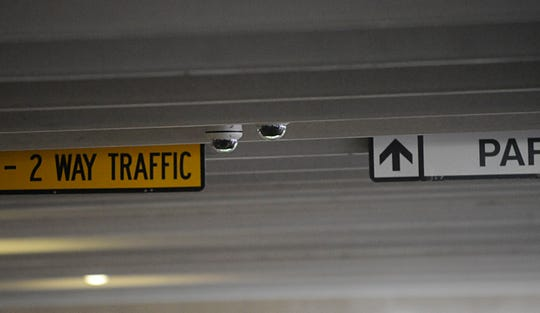 Video cameras inside the Cumberland County Court House parking garage pictured here on Thursday, September 27.