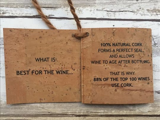 The Pelham Fairway store in educating customers about natural cork.