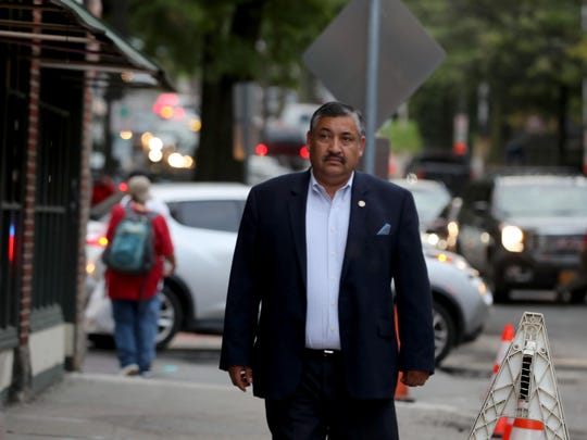 Port Chester village trustee Luis Marino walks along Westchester Ave. in the village Sept. 26, 2018. Marino, the first Hispanic trustee in village history, was elected after the village enacted cumulative voting, a system in which voters can vote as many times as there are positions to fill.