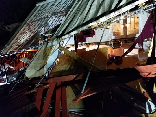 A deck collapsed at a home at 18 Sam Law Drive in Monsey on Sept. 26, 2018.