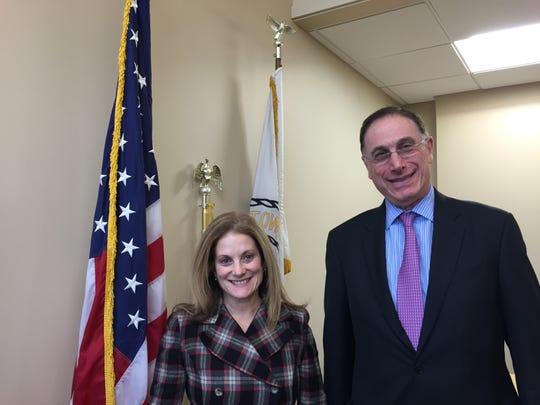 Town Supervisor Gary Zuckerman with Deborah Reisner, confidential secretary to the supervisor.
