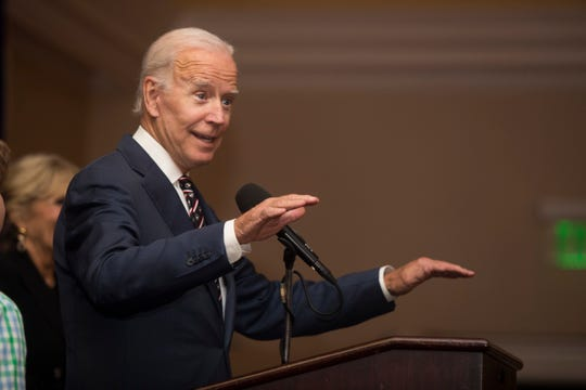 Former Vice President Joe Biden speaks during the 2018 Beau Biden Foundation Golf & Tennis Invitational Cocktail Reception Monday, Sept. 24, 2018, at the Wilmington Country Club.
