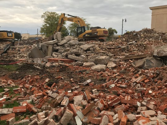 The result of demolition at the Theater Block along West Grand Avenue in Wisconsin Rapids