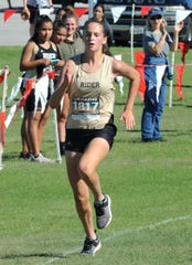 Makenzi Renfro is in her second year running cross country for Rider and has qualified for the regional meet in both years.