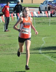 Burkburnett's  Jaden Kindt finished first in her division Thursday.
