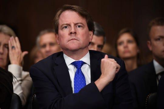 Don McGahn, abogado de la Casa Blanca.