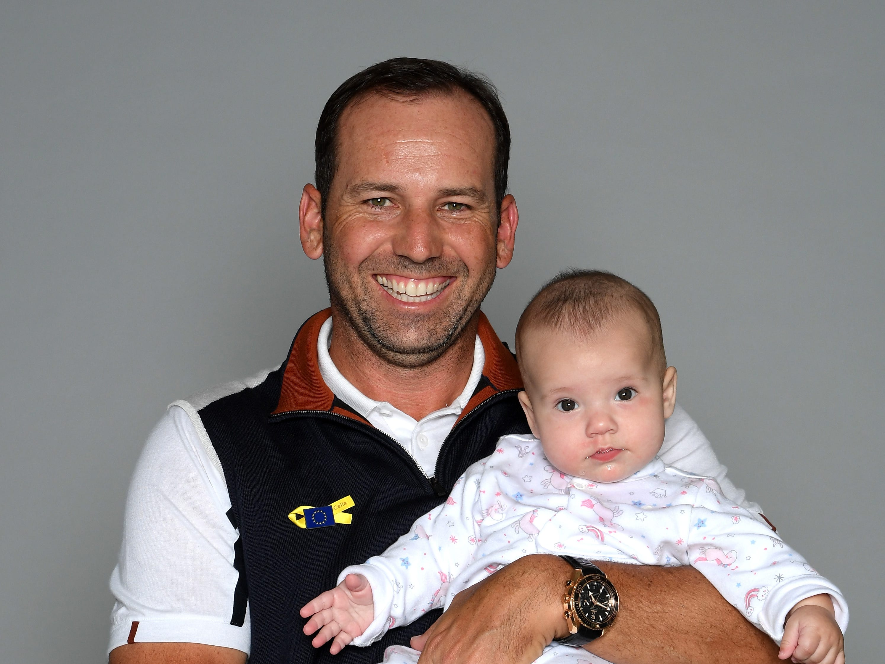 Azalea Garcia posed with her dad Sergio Garcia before the Ryder Cup gala.