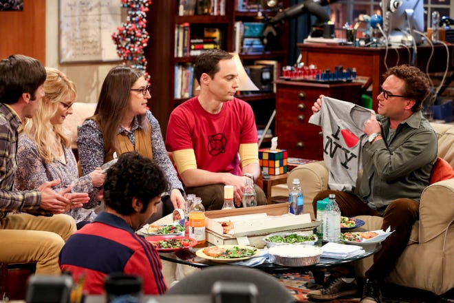 Simon Helberg, left, Melissa Rauch, Mayim Bialik, Jim Parsons, Johnny Galecki and Kunal Nayyar star in 'The Big Bang Theory,' now in its 12th and final season.