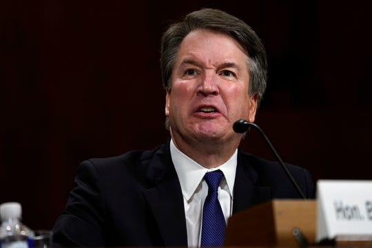 Supreme Court nominee Brett Kavanaugh testifies before the Senate Judiciary Committee on on Sept. 27, 2018