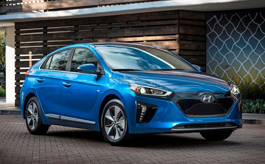 This Undated Photo Provided By Hyundai Shows The 2018 Ioniq Electric An Affordable