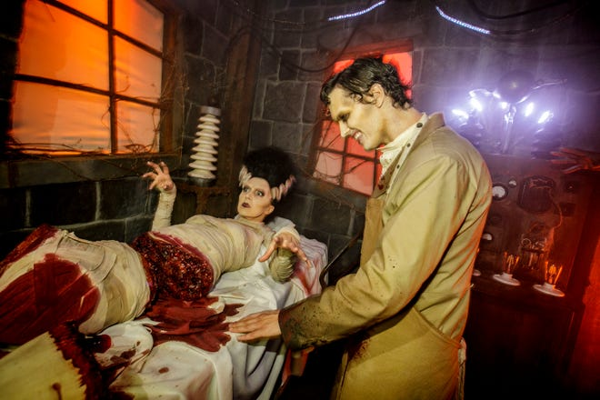 """""""Universal Monsters"""" Maze at Universal Studios Hollywood's Halloween Horror Nights 2018."""