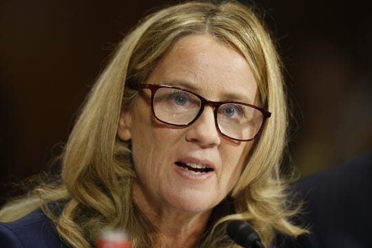 Dr. Christine Blasey Ford speaks during the Senate Judiciary Committee hearing on the nomination of Brett Kavanaugh to be an associate justice of the Supreme Court of the United States on Wednesday.