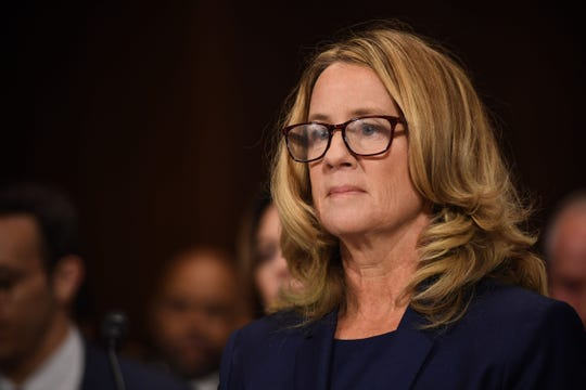 Christine Blasey Ford, the woman accusing Supreme Court nominee Brett Kavanaugh of sexually assaulting her at a party 36 years ago, testifies during his US Senate Judiciary Committee confirmation hearing on Capitol Hill in Washington, DC, Sept. 27, 2018.