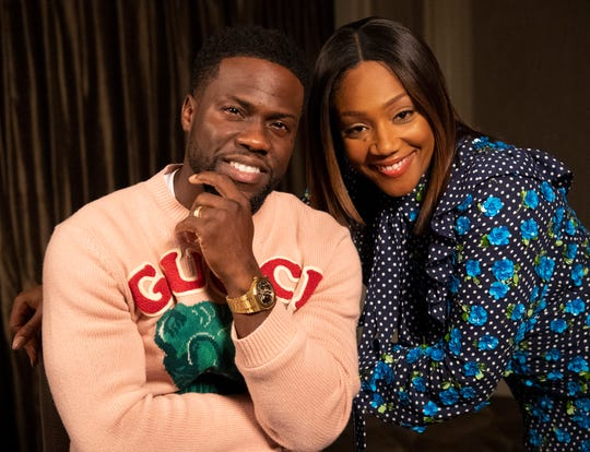 """""""I was the perfect student – I had a 5.3 GPA,"""" jokes Kevin Hart, who stars as a high-school dropout alongside Tiffany Haddish in """"Night School."""""""