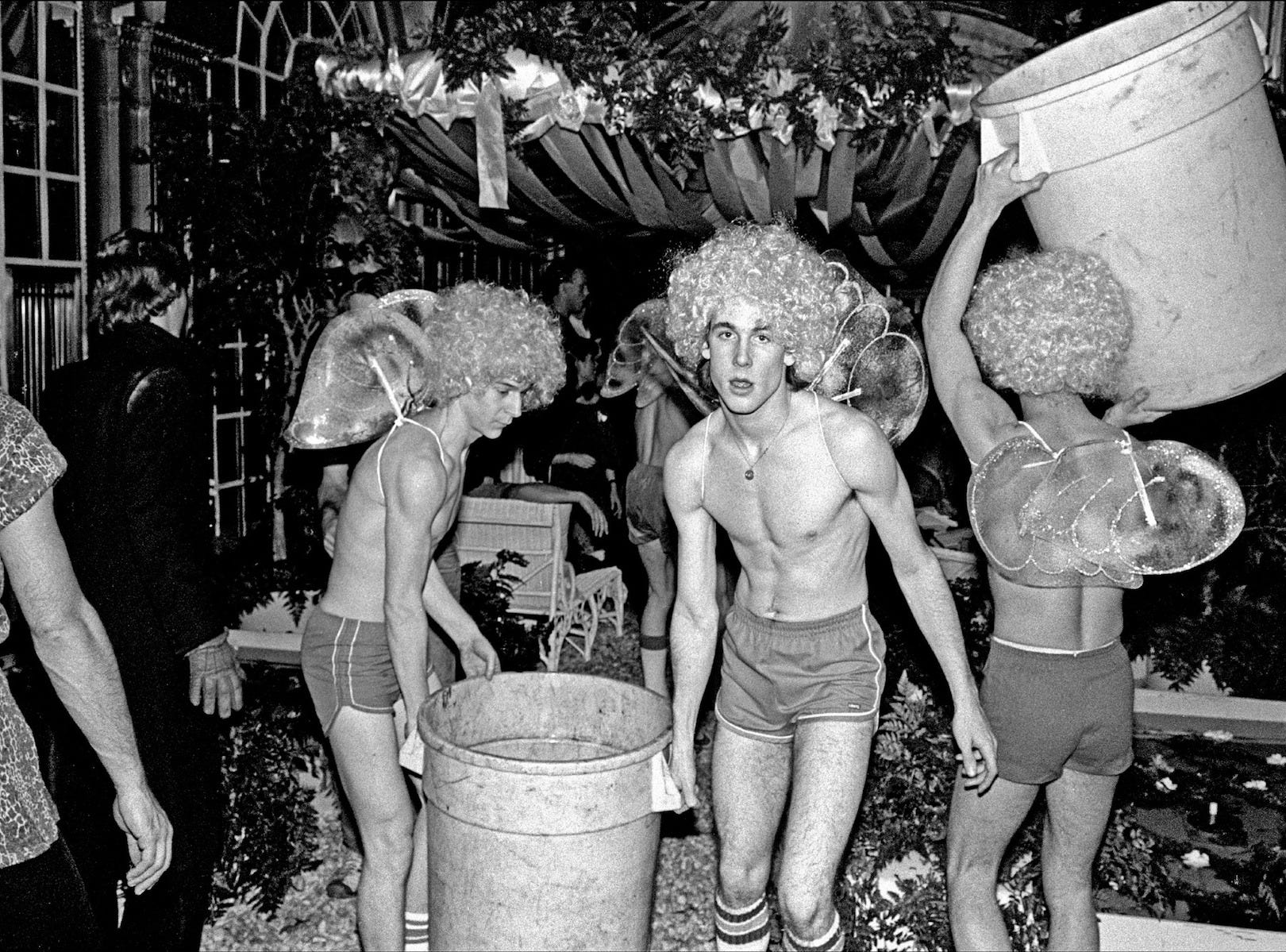 "Performers prepare for a Studio 54 party. The iconic disco gets a new look in ""Studio 54."""