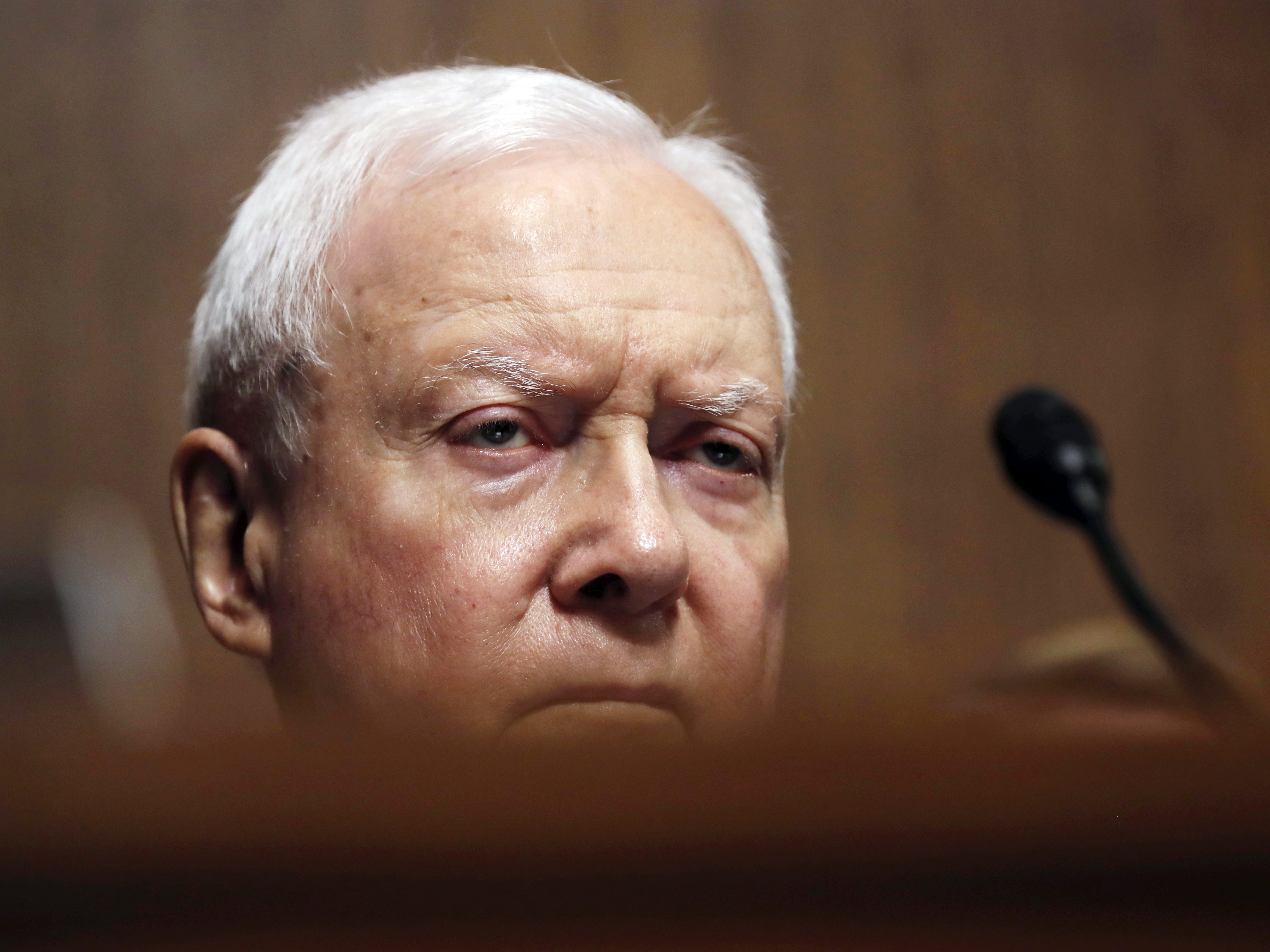 WASHINGTON, DC - SEPTEMBER 27: U.S. Senator Orrin Hatch (R-UT) listens during a Senate Judiciary Committee confirmation hearing with professor Christine Blasey Ford, who has accused U.S. Supreme Court nominee Brett Kavanaugh of a sexual assault in 1982, on Capitol Hill September 27, 2018 in Washington, DC. A professor at Palo Alto University and a research psychologist at the Stanford University School of Medicine, Ford has accused Supreme Court nominee Judge Brett Kavanaugh of sexually assaulting her during a party in 1982 when they were high school students in suburban Maryland. (Photo by Jim Bourg-Pool/Getty Images) ORG XMIT: 775234142 ORIG FILE ID: 1041745042