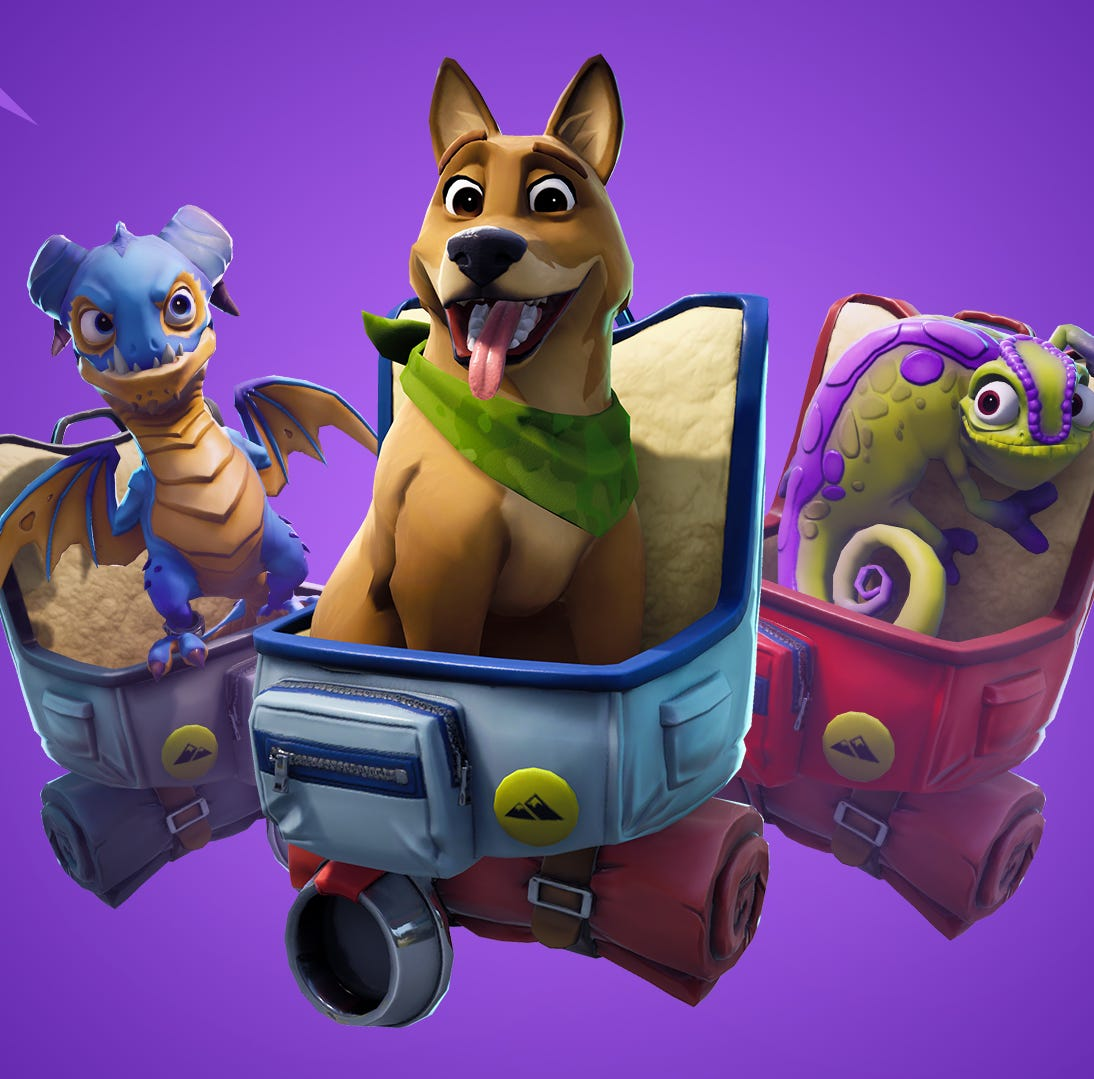 The new pets appearing in the sixth season of Fortnite.