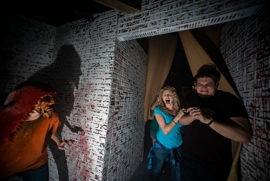 """The """"Slaughter House"""" maze at Howl-O-Scream is meant for adults."""