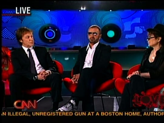 Surviving Beatles Paul McCartney and Ringo Star with Yoko Ono interviewed by Larry King on CNN on July 27, 2007.