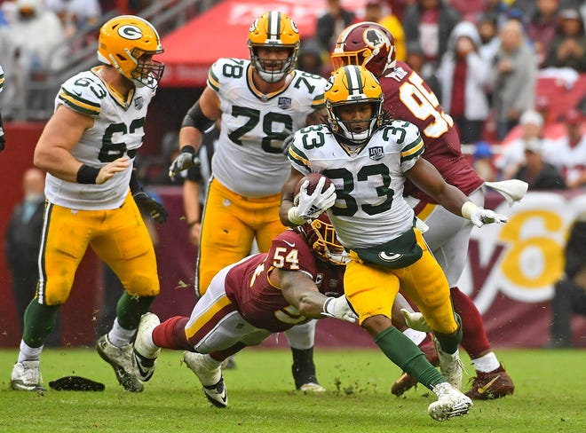 Aaron Jones was suspended for the first two games of the season, but returned last week to rush for 42 yards on six carries.
