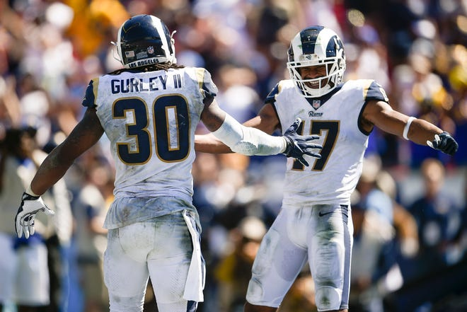 Rams running back Todd Gurley and wide receiver Robert Woods provided quite a 1-2 punch last week in a win over the Cardinals. The Rams are one of three NFL teams still undefeated after three weeks.