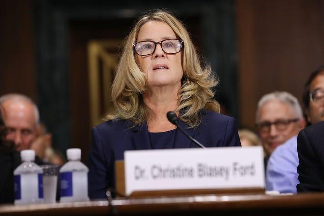 Christine Blasey Ford comparece en la corte