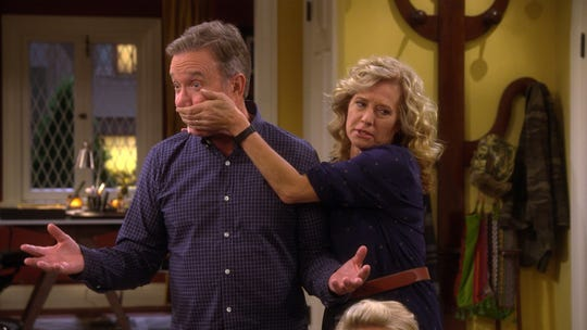 Mike Baxter (Tim Allen), left, has some strong views, but his loving wife, Vanessa (Nancy Travis), sometimes applies the brakes on her husband.