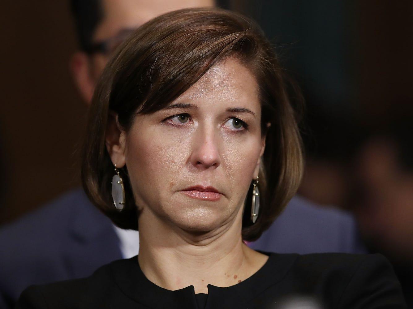 Ashley Kavanaugh listens to her husband, Judge Brett Kavanaugh testify before the Senate Judiciary Committee.