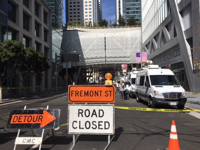 Riders and drivers are diverted from the Transbay Transit Center in San Francisco, which had to close 45 days after it opened because of faulty steel beams.