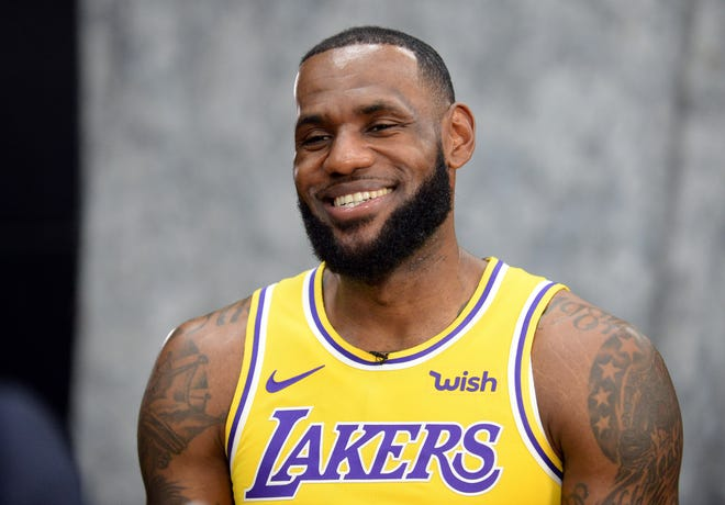 Los Angeles Lakers forward LeBron James during media day.