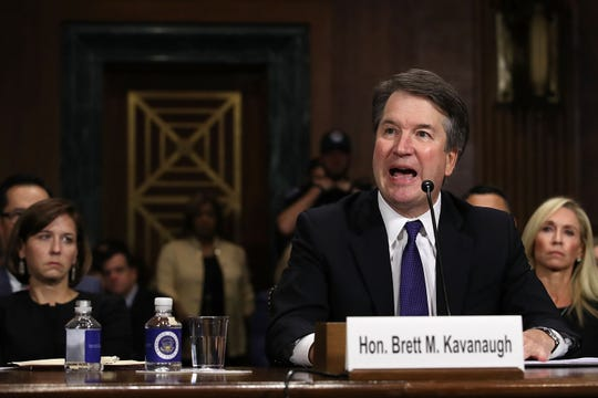 Judge Brett Kavanaugh testifies to the Senate Judiciary Committee during his Supreme Court confirmation hearing in the Dirksen Senate Office Building on Capitol Hill Sept. 27, 2018.