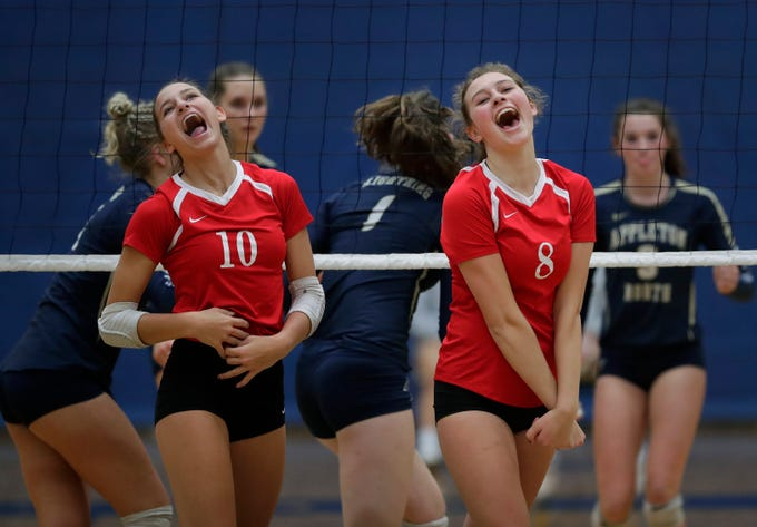 girls prep volleyball kimberly defeats appleton north