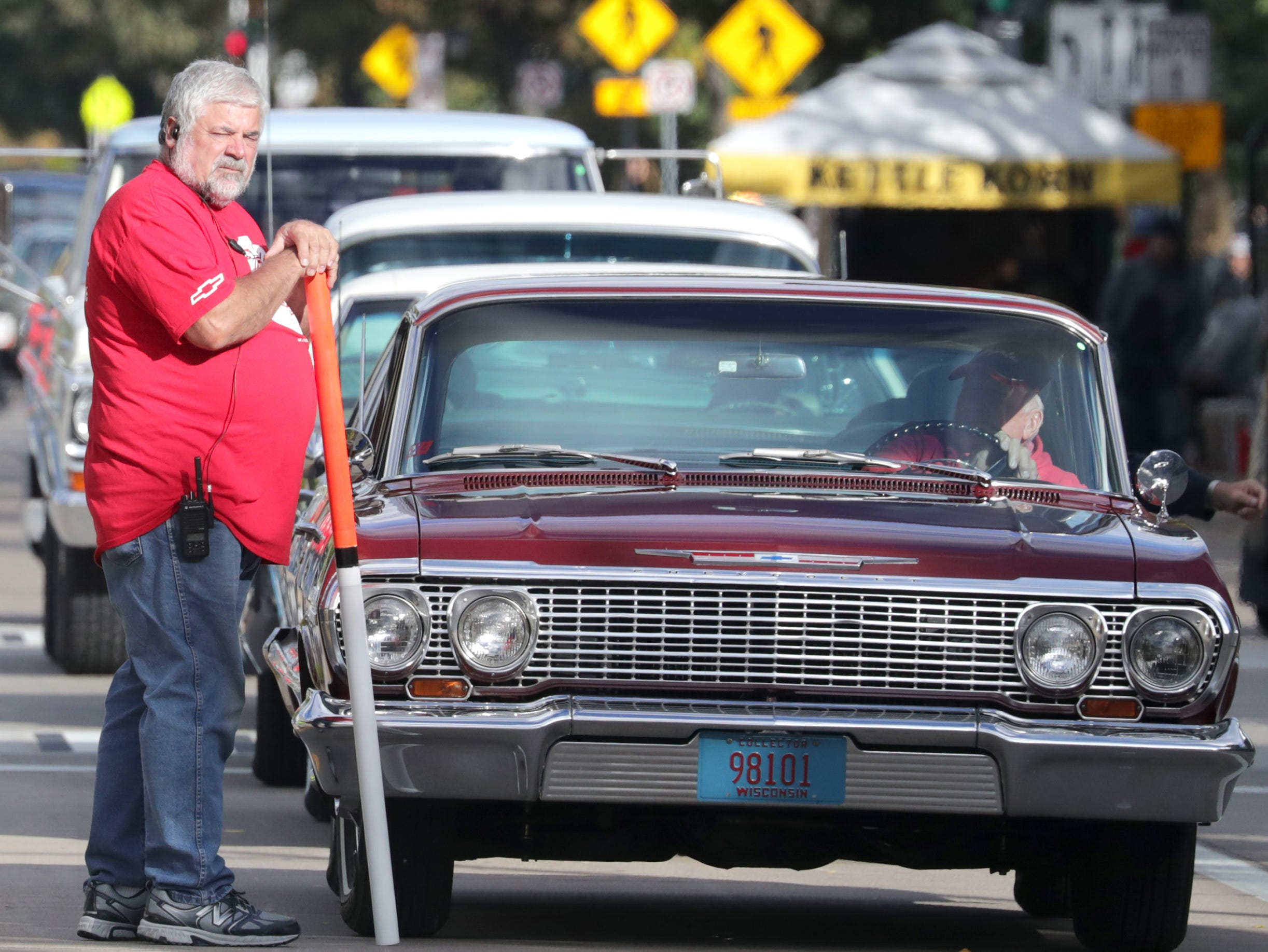 during the annual License to Cruise car show on Friday, September 28, 2018, on College Ave. in Appleton, Wis.