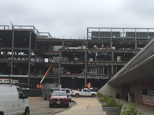 The Rutgers multi-sport practice facility going up outside of the RAC
