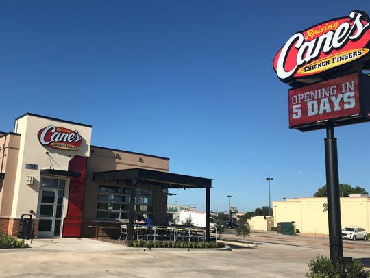 Raising Cane's second location opens Tuesday.
