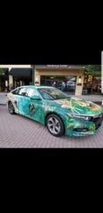 Lungs of our Earth is the title of this entry, painted on a 2018 Honda Accord.