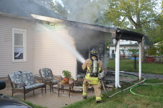 Firefighters said the fire at 71 Fairview Ave. began in the back of the home.