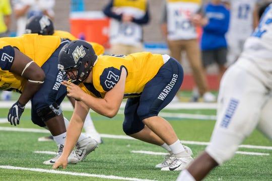 Windsor graduate Cory Hagerman has 16 tackles as a freshman lineman for Merrimack College.