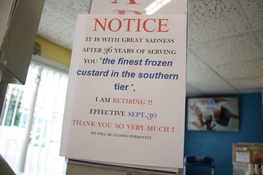 The Custard Corner in Endicott is closing its doors on Sept. 30 after 36 tears of business.