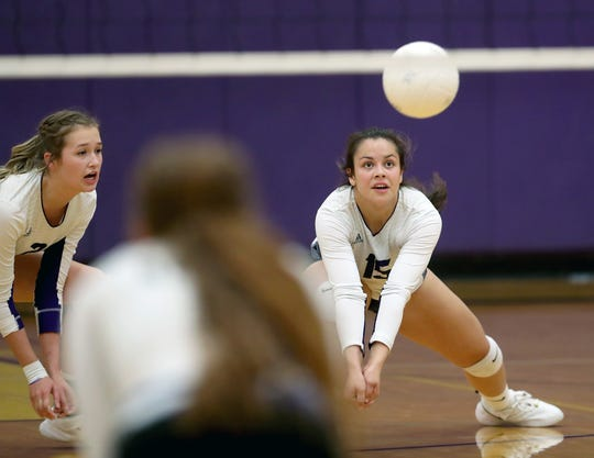 North Kitsap's Noey Barreith helped the Vikings' volleyball team win 19 games as a senior.