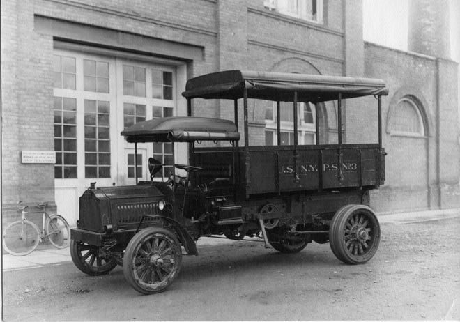 This 1920s era, 4-ton Packard truck was used to transport workers around Puget Sound Navy Yard. It's sitting in front of Building 78, which housed the shipyard's administration offices. With it's foul-weather curtains rolled up, passengers enjoyed riding up and down the piers on Sinclair Inlet. To see more photos from the Kitsap County Historical Society Museum archives, visit facebook.com/kitsaphistory, kitsapmuseum.org, or stop by the museum at 280 Fourth St. in Bremerton. Call 360-479-6226 for information