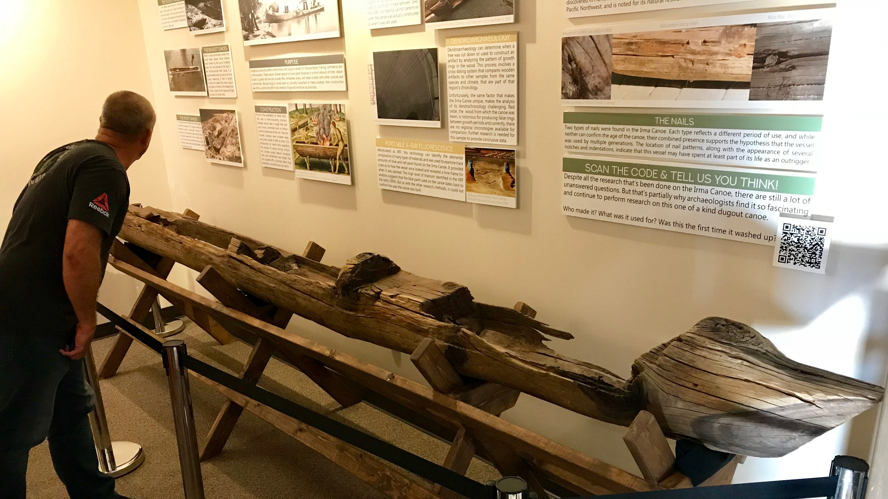 Mystery canoe goes on display in Cape Canaveral: Was it made from a