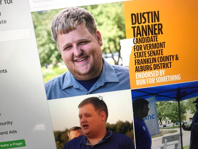 Dustin Tanner, a Dem/Prog candidate for Franklin County and Alburg District Vermont State Senate.