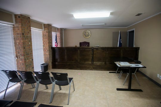 Odem court room.