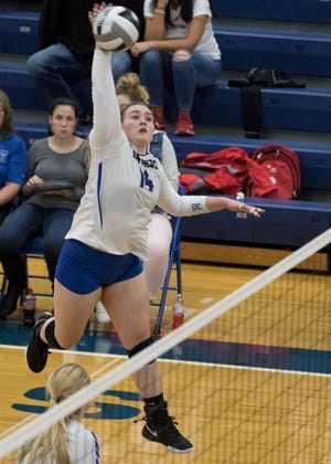 Southeastern volleyball defeated Vinton County in three sets on Monday, 27-25, 25-15 and 25-22.