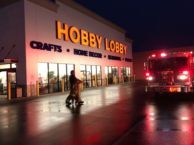 Chillicothe Fire Department investigates after a fire at Hobby Lobby on Thursday night.
