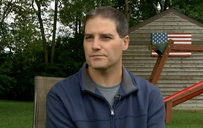 Brian Sarver, of Lebanon, was one of two people who was hit in the Fifth Third shooting rampage and survived.