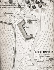 Battery Bates was a Civil War defensive earthwork, which like Battery Coombs was located in what now is the western area of Devou Park. It was one of the embankments created to protect cannon crews that defended Northern Kentucky and Cincinnati from Confederate forces during mid-September 1862.