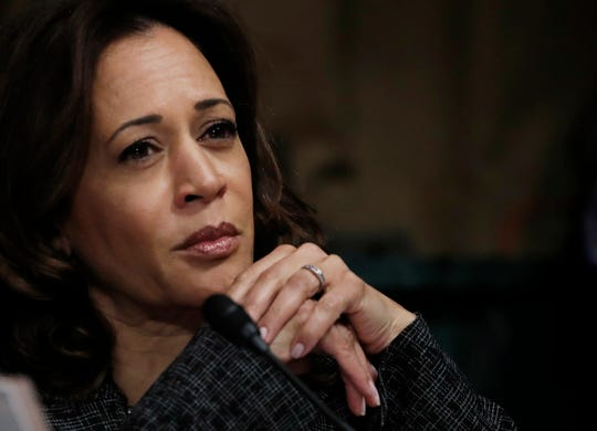 WASHINGTON, DC - SEPTEMBER 27: U.S. Senator Kamala Harris (D-CA) listens during a Senate Judiciary Committee confirmation hearing with professor Christine Blasey Ford, who has accused U.S. Supreme Court nominee Brett Kavanaugh of a sexual assault in 1982, on Capitol Hill September 27, 2018 in Washington, DC. A professor at Palo Alto University and a research psychologist at the Stanford University School of Medicine, Ford has accused Supreme Court nominee Judge Brett Kavanaugh of sexually assaulting her during a party in 1982 when they were high school students in suburban Maryland. (Photo by Jim Bourg-Pool/Getty Images)