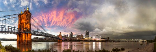 Chris Ashwell, of Cincy Stories, produced this image  of the Cincinnati skyline for an upcoming exhibit at the library.